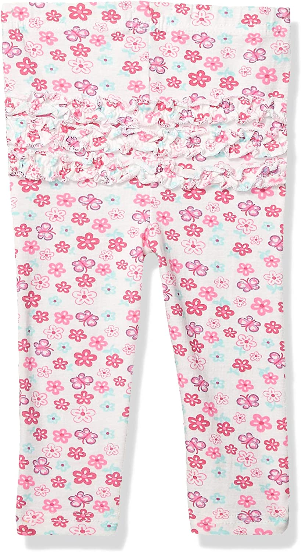 Quiltex Baby Girls Cute Floral Prints Leggings 2 Pack Set