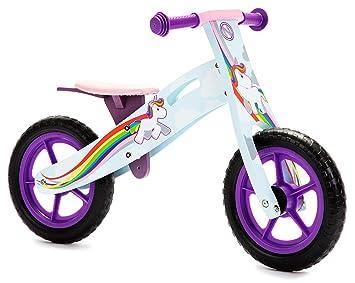 Nicko Unicorn Rainbow Girls Children S Wooden Balance Bike Nic866