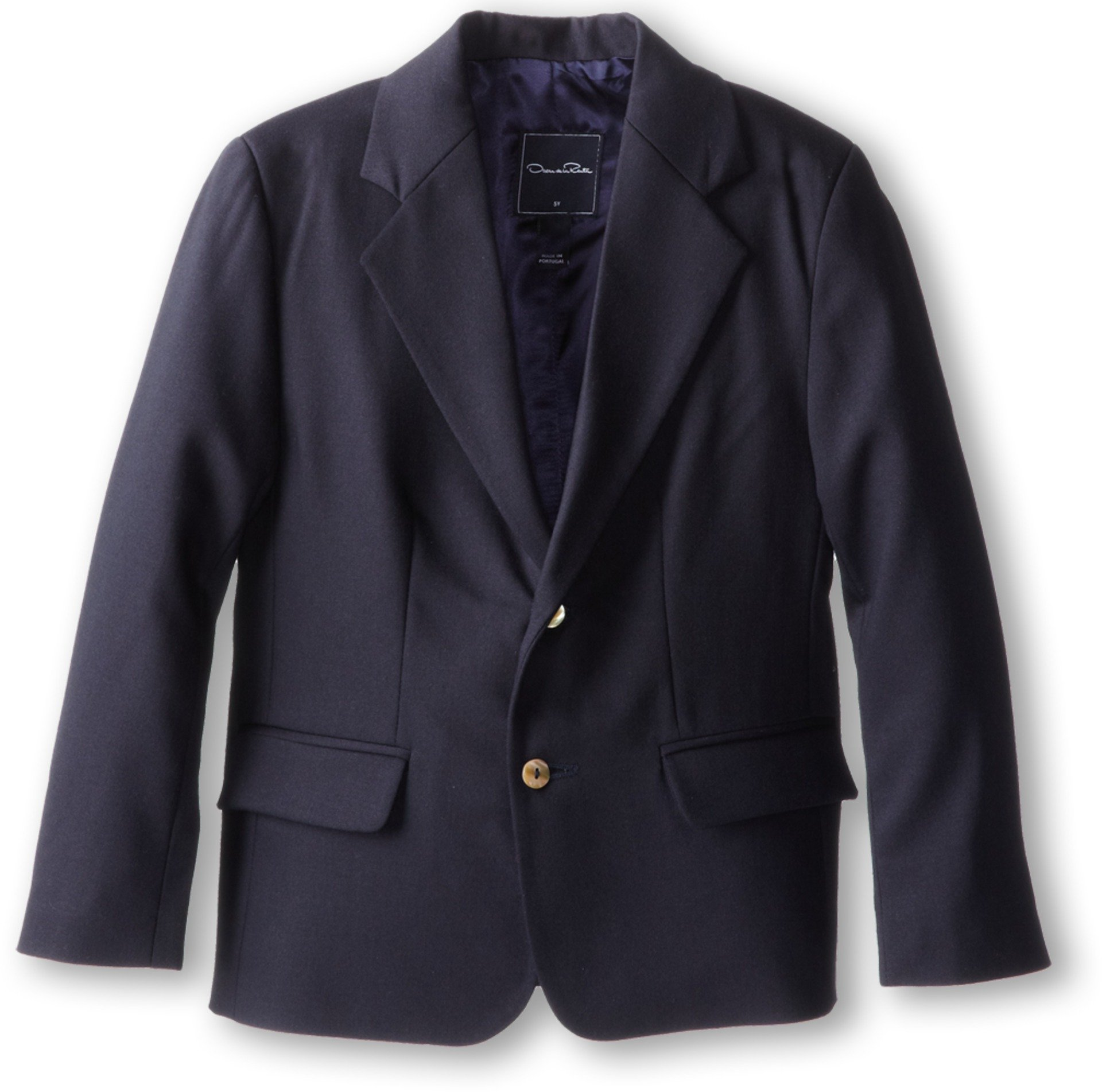 Oscar de la Renta Childrenswear Boy's Wool Blazer (Toddler/Little Kids/Big Kids) Navy Jacket 3 (Toddler)