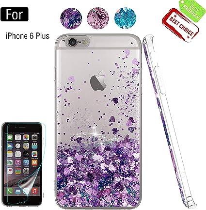 Atump Funda iPhone 6s Plus Glitter Fundas Líquido Silicona TPU ...