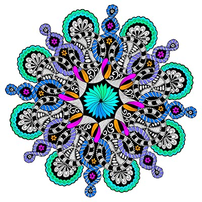 "Stuff2Color Figure Eight - Giant Mandala Coloring Poster - 22"" X 22"" Inches: Toys & Games"