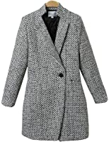 Micmall Women Ladies Wool Blended Classic Spring Fall Pea Coat Jacket
