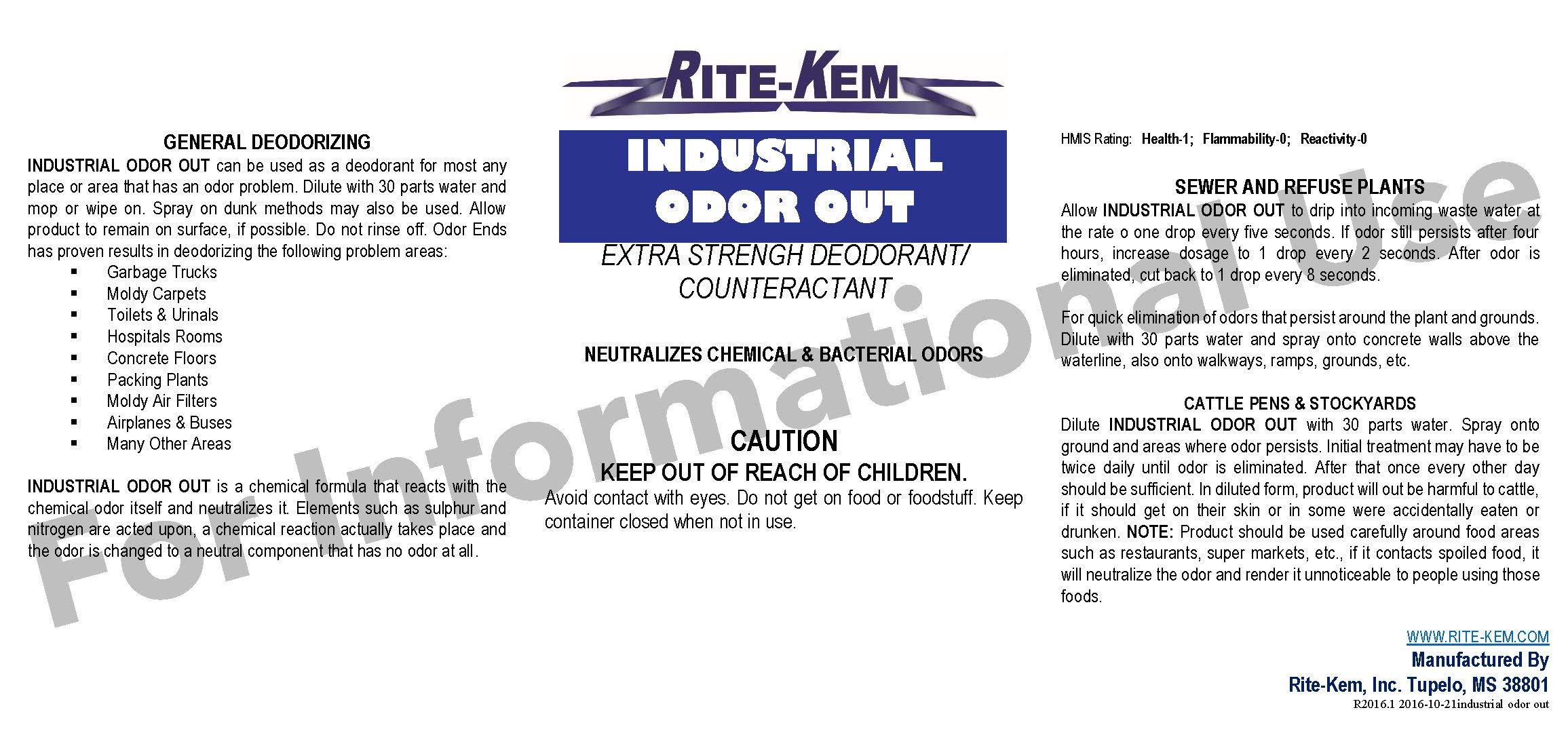 Rite-Kem Industrial Laundry Detergent 50 LB