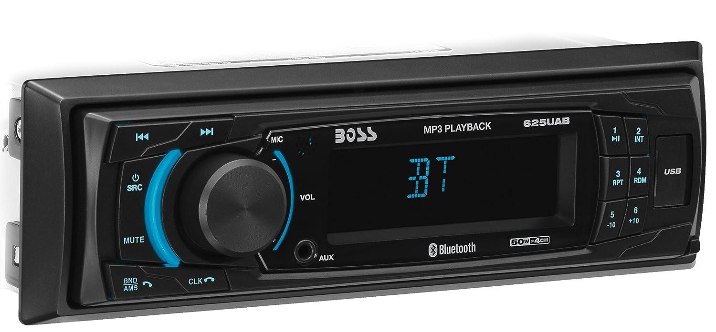 Amazon.com: BOSS Audio 625UAB Multimedia Car Stereo – Single Din, MP3  Player (No CD/DVD Player), USB Port, AUX Input, AM/FM Radio Receiver: Car  Electronics