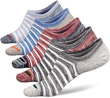 Calcetines Invisibles Hombre Calcetines Cortos Bajo de Algodón con ...
