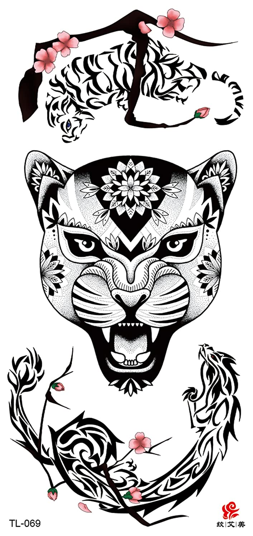 df4e2978259f2 Amazon.com: jaguar head tribal temporary tattoo tramp stamp: Clothing