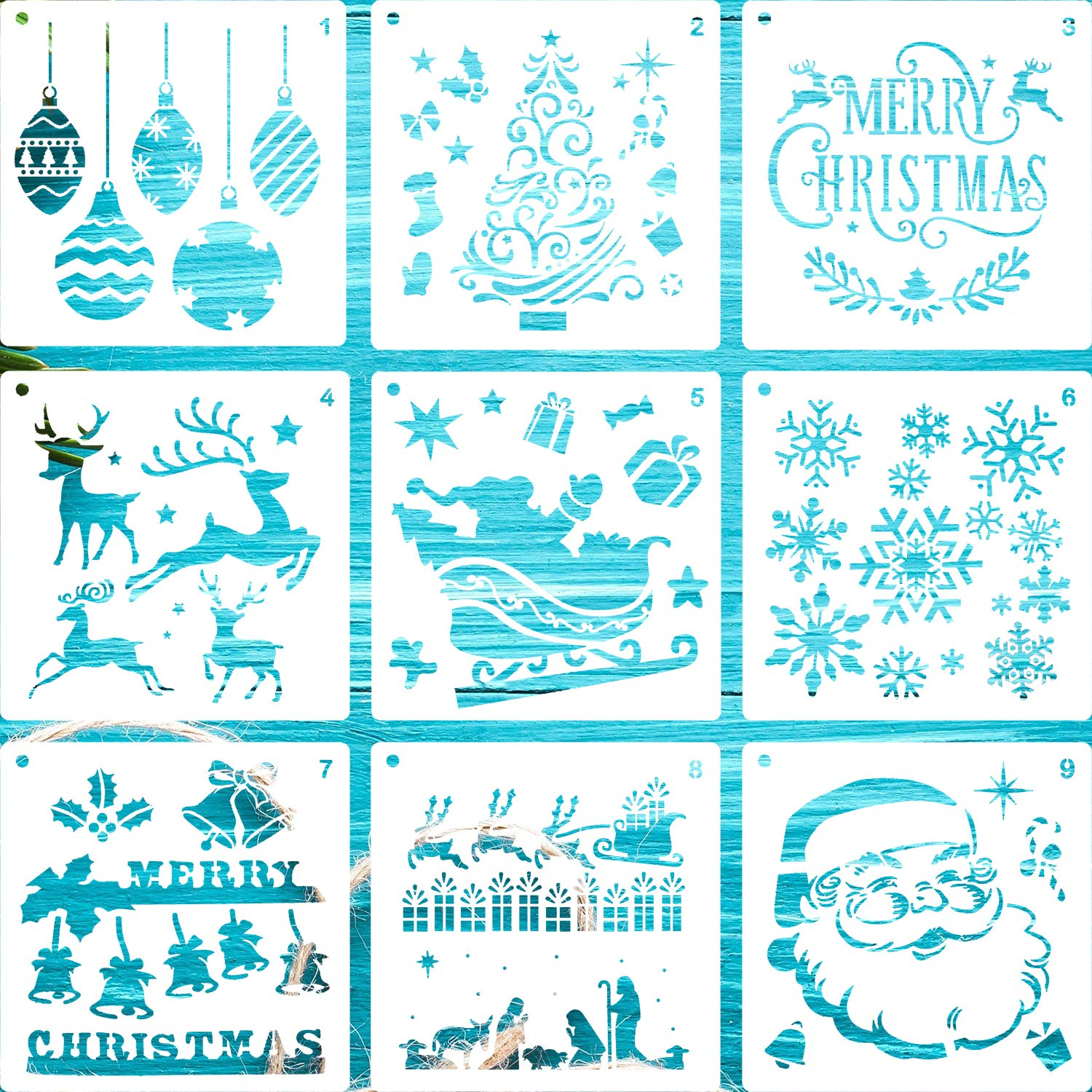 Christmas Stencils are a must have.