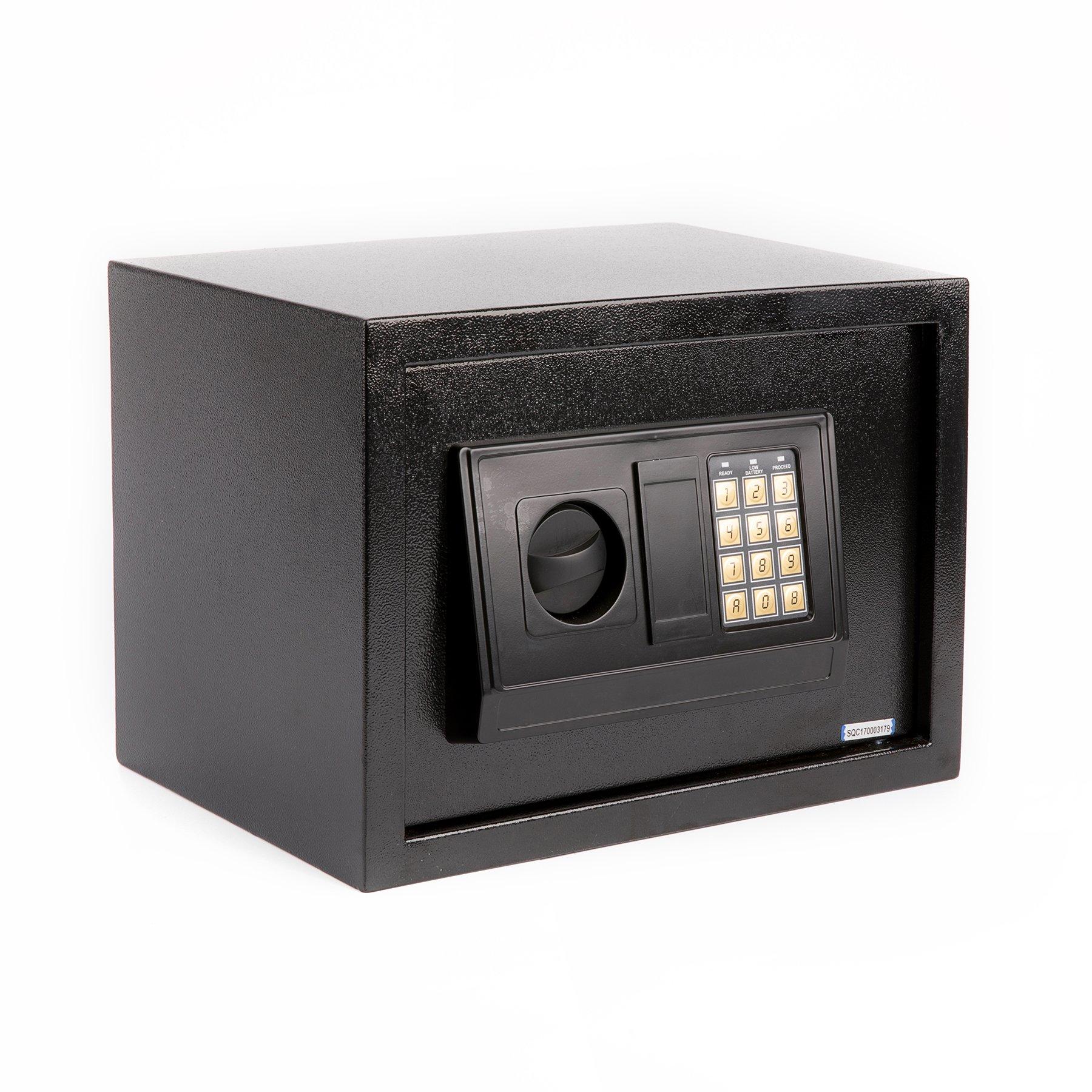 Windaze Electronic Digital Safe Box Keypad Lock Home Office Hotel Hide Cash Gun Valuables, 1.2 Cubic Feet