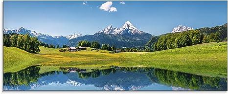 Glasbilder Wandbild Druck auf Glas Berg Schreckhorn