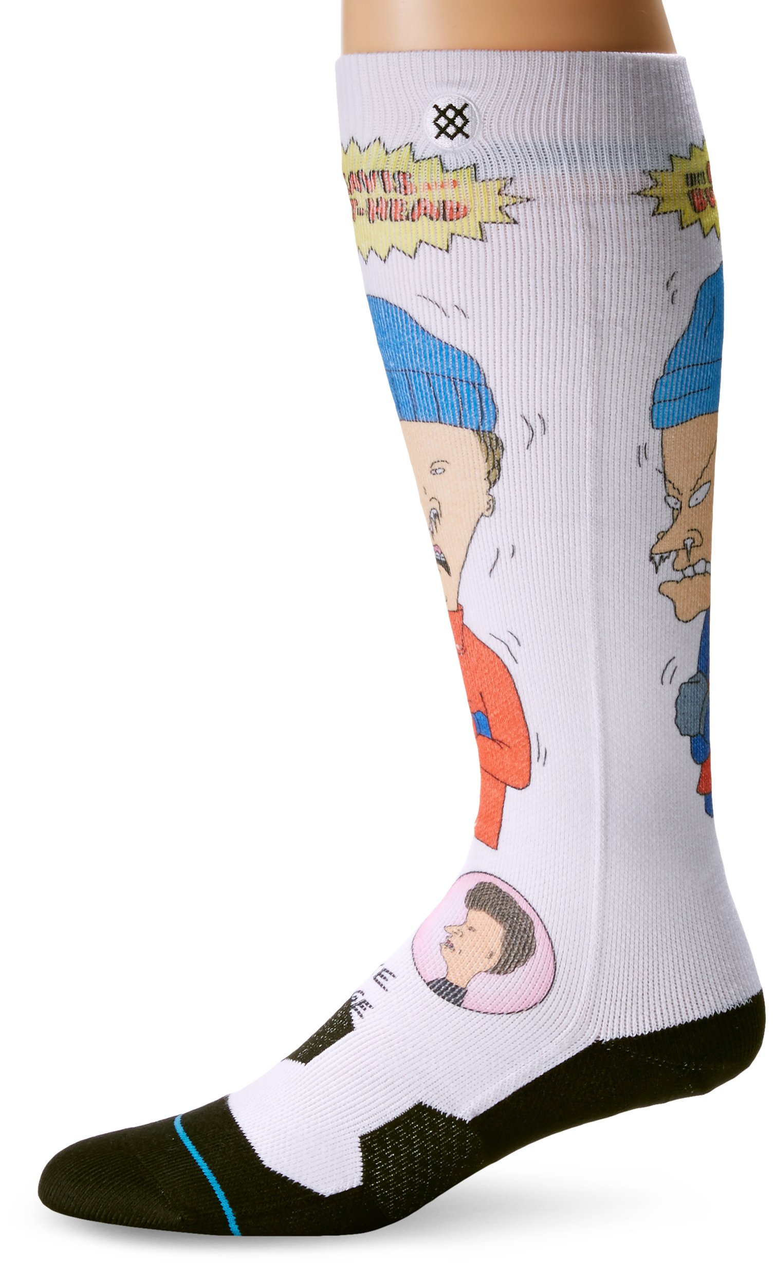Stance Men's Yellow Snow Crew Socks, Black, Sock Size:10-13/Shoe Size: 6-12 by Stance