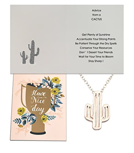 Amazon Com Chaomingzhen Cactus Necklace Quote Advice From A Cactus