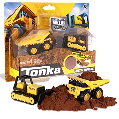 Tonka - Metal Movers Combo Pack - Mighty Dump Truck & Bulldozer: Toys & Games