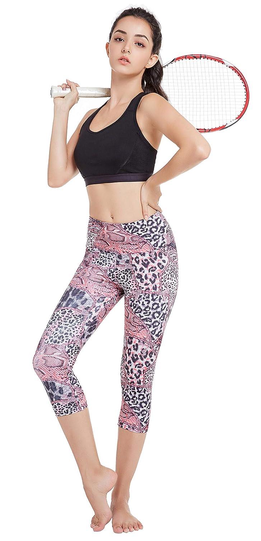 SEYO Pantalones de Yoga Mujer Leggins Leotardos Capri Impreso Mallas ...