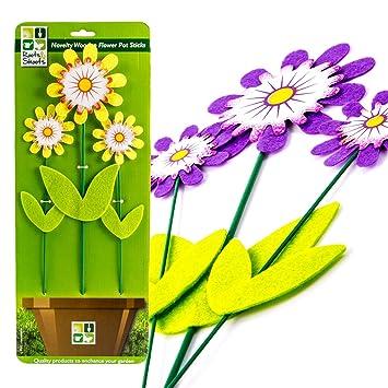 225 & 3Pc Decorative Wooden Plant Support Sticks Flower Pot Decor for Home ...