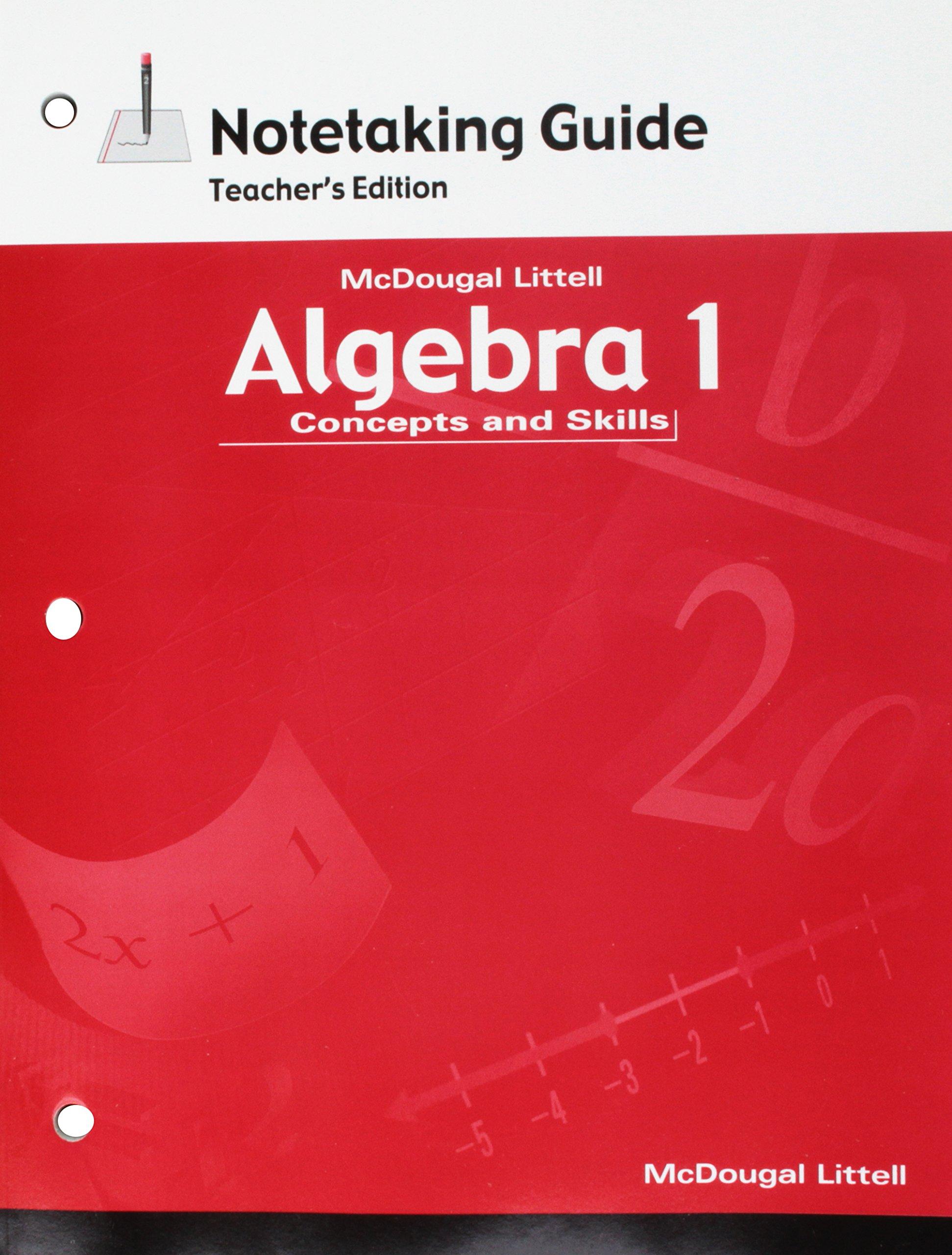 Amazon.com: Algebra 1: Concepts and Skills: Notetaking Guide Teacher  Edition (9780618410613): MCDOUGAL LITTEL: Books