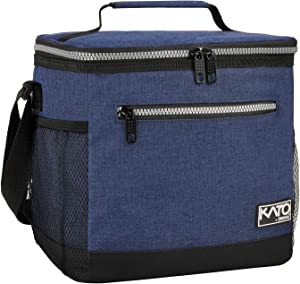 Large Insulated Lunch Bag for Women Men, 10L Leakproof Thermal Reusable Lunch Box for Adult & Kids by Tirrinia, Tall Meal Prep Lunch Cooler Tote for Office Work, Dark Blue