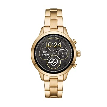 cb0dd7476aba Amazon.com  Michael Kors Women s Access Runway Stainless Steel Plated  Touchscreen Watch with Strap