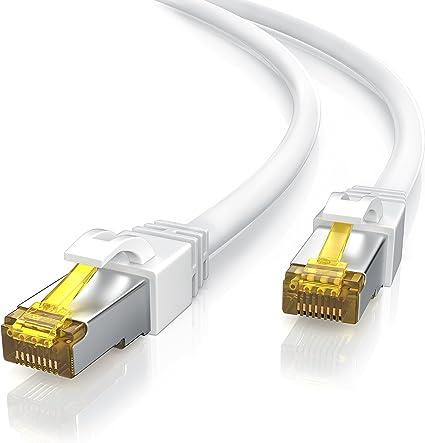 Csl 2m Cat 7 Netzwerkkabel Gigabit Ethernet Lan Kabel Elektronik
