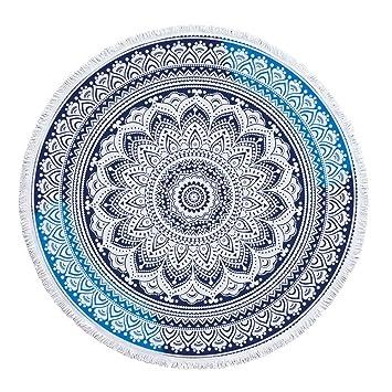 Conjunto de Borla de usos m¨²ltiples Indian Mandala Boho Toallas de Playa de Gran