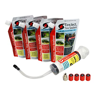 TireJect Tire Sealant Kit - Fix and Prevent Flat Tires (40oz): Automotive