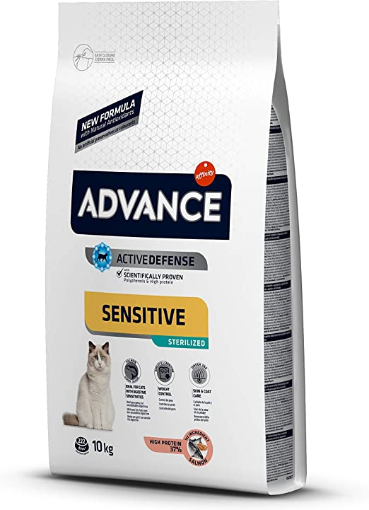 Advance Advance Sensitive Pienso para Gato Esterilizado Adulto con Salmón - 10000 gr