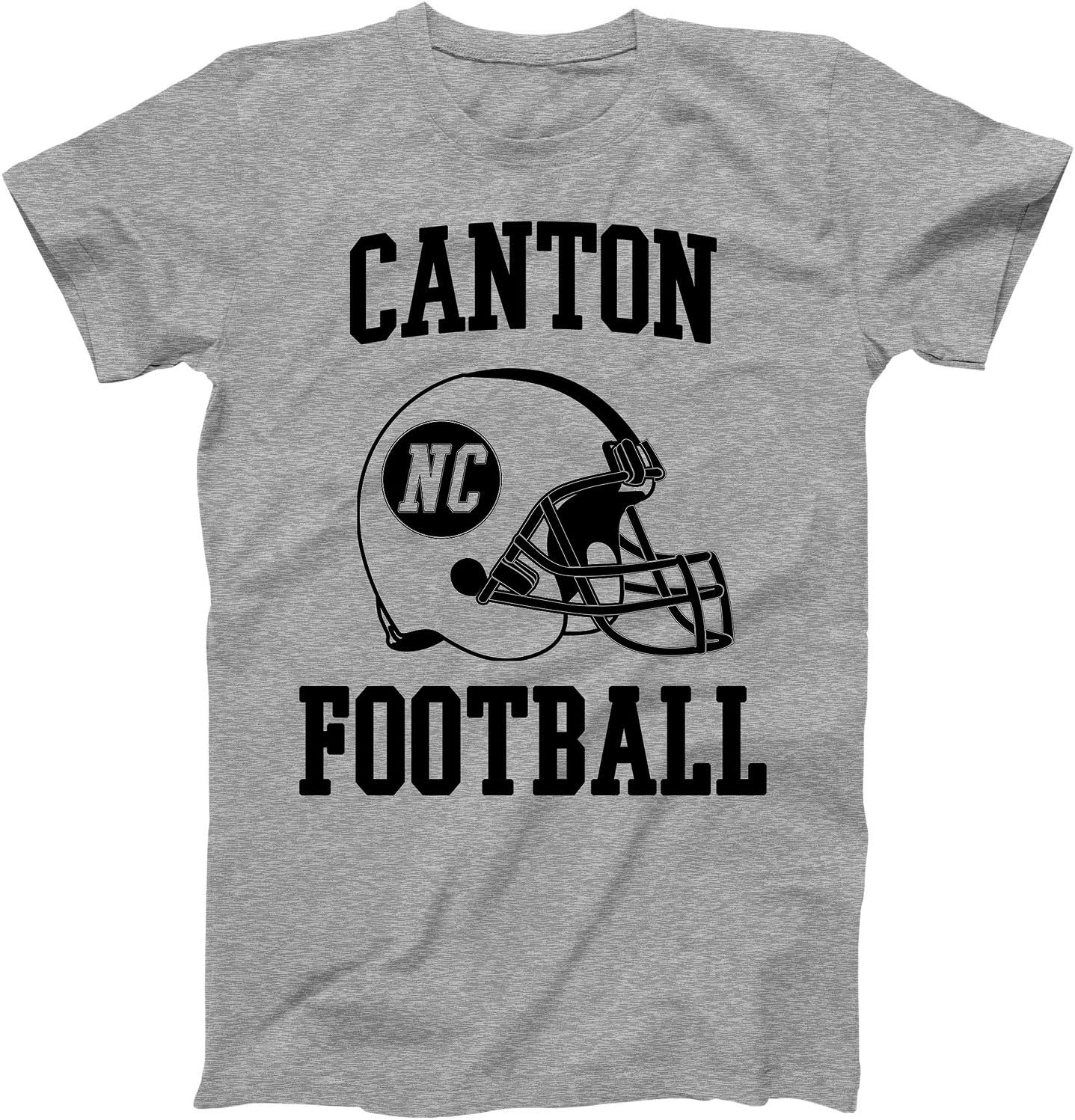 Vintage Football City Canton Shirt for State North Carolina with NC on Retro Helmet Style