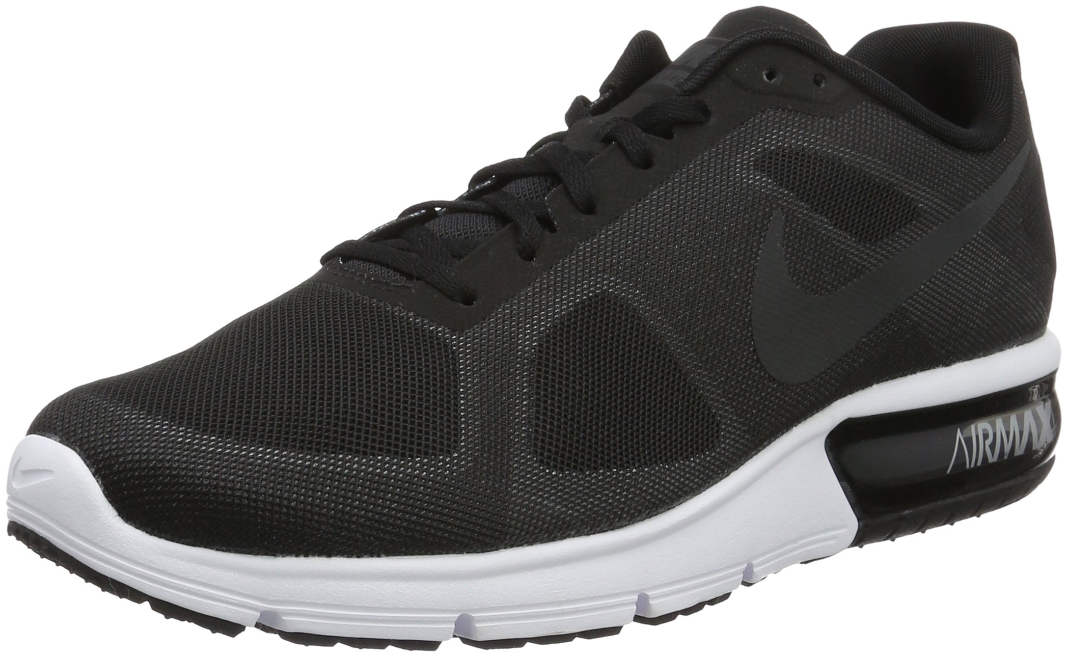 big sale a5857 be4e3 Galleon - Nike Men Air Max Sequent Running Shoes Black Wolf Grey White Metallic  Hematite 10