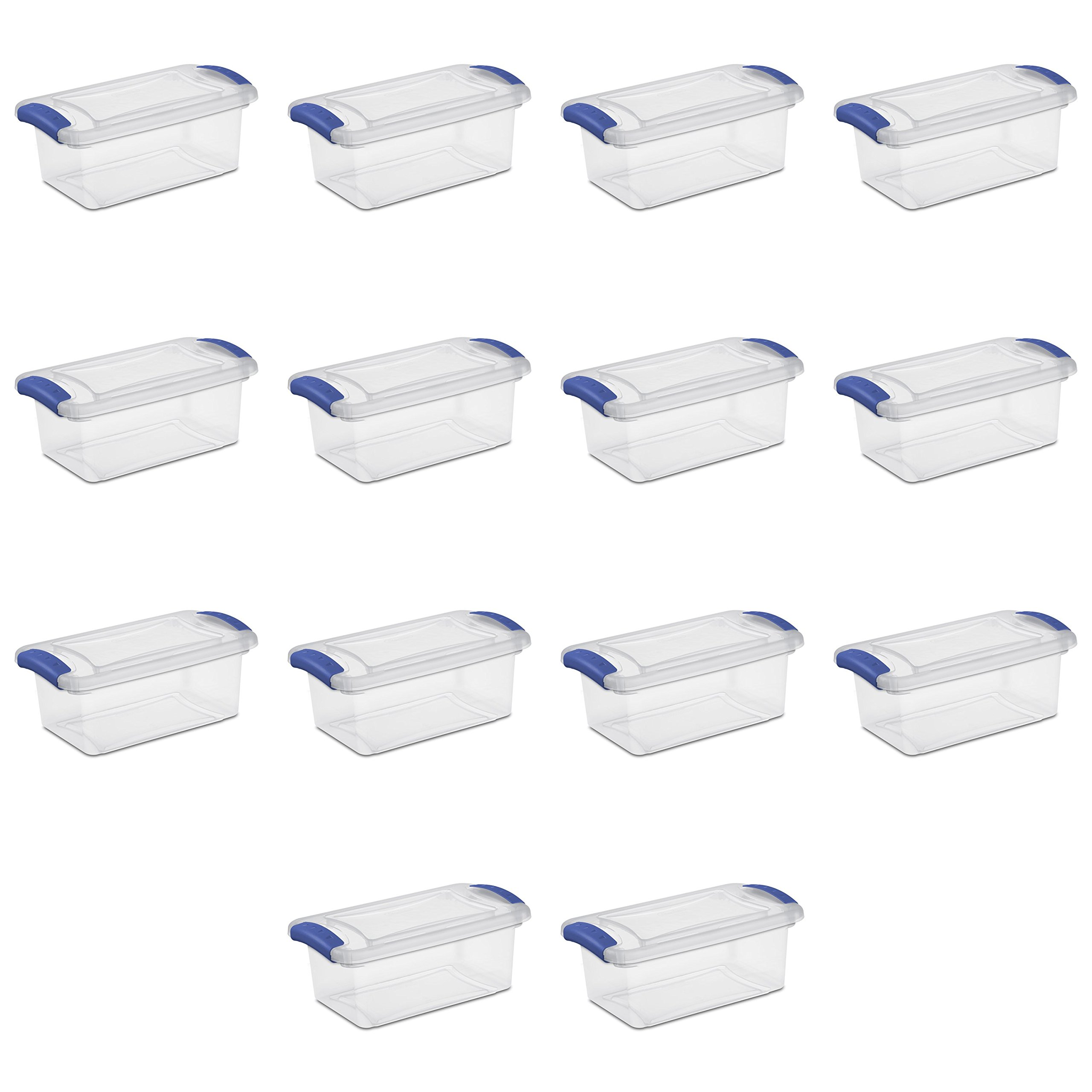 Sterilite 7 Qt Latch Box, Stadium Blue (Available in Case of 14)