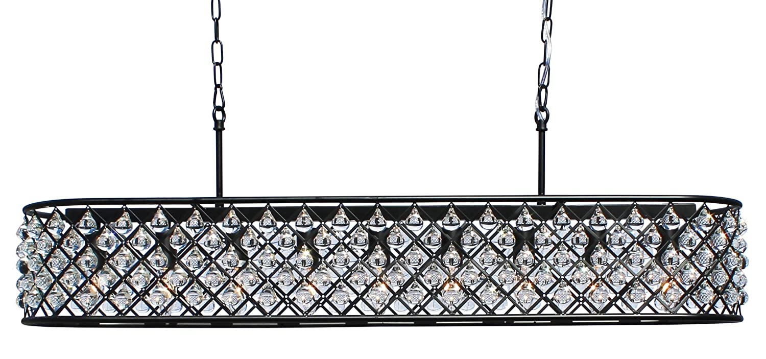 chandeliers crystal inches bulb f rectangular com b deluxe modern cellula t chandelier interior