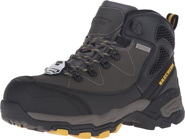 Aparte Desarmado nivel  Amazon.com: Skechers for Work Men's Surren Waterproof Steel Toe Work Boot:  Shoes