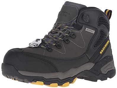 Amazon.com | Skechers for Work Men's Surren Waterproof Steel Toe ...