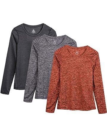 brand new e4640 3200b icyzone Damen Laufshirt Langarm T-Shirts atmungsaktive Funktionsshirt für  Sport Fitness