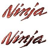 Decal Story 3D Emblem Sticker Decal Gold Raise Up Polish Gloss For Kawasaki Ninja ZX6R