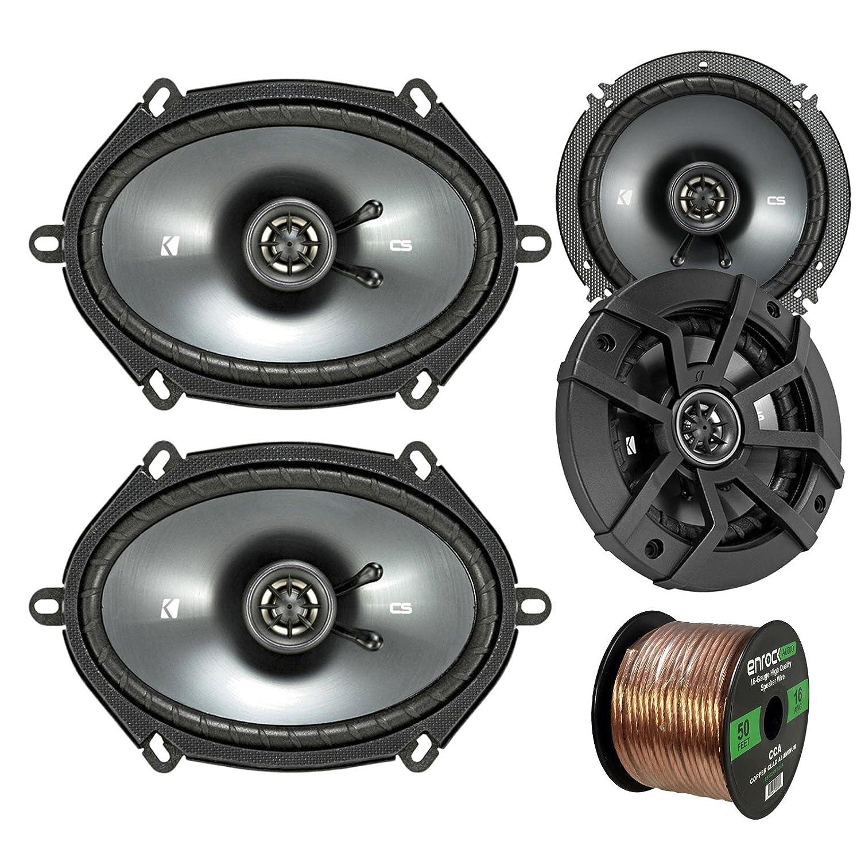 amazon com car speaker set combo of 2 kicker 40cs654 6 5\