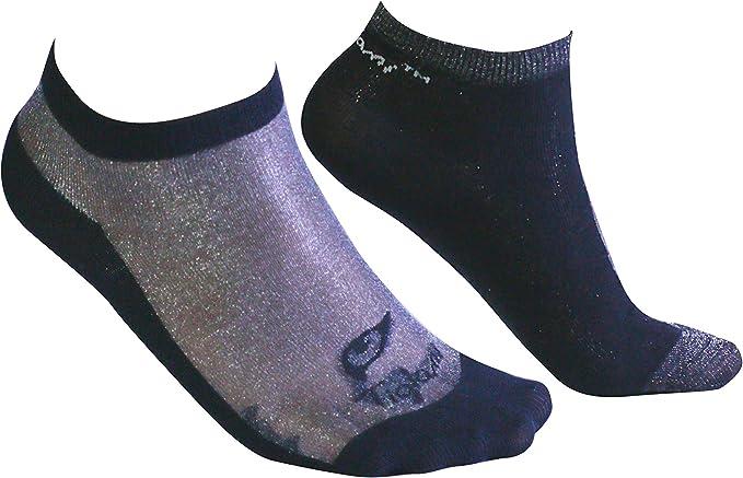 Tiglami Ícono Brillante - Calcetines de mujer negros y grises con brillo - Calcetines brillantes – Calcetines al tobillo – Calcetines de algodón peinado y Lurex Brilloso - Dos tallas disponibles: Amazon.es: Ropa y accesorios