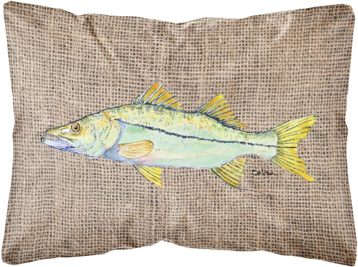 Caroline s Treasures 8772PW1216 Fish – Snook Decorative Canvas Fabric Pillow, 12H x16W, Multicolor