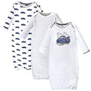 Touched by Nature Baby Organic Cotton Gowns, Truck 3-Pack, 0-6 Months