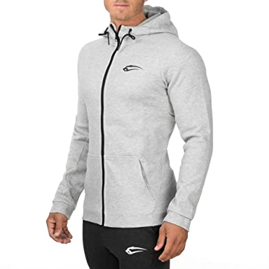Langarmshirt Trainingsshirt Pullover Longsleeve Sweater f/ür Sport Fitness /& Freizeit Sportshirt mit Rei/ßverschluss SMILODOX Herren Zip Hoodie Nightfall