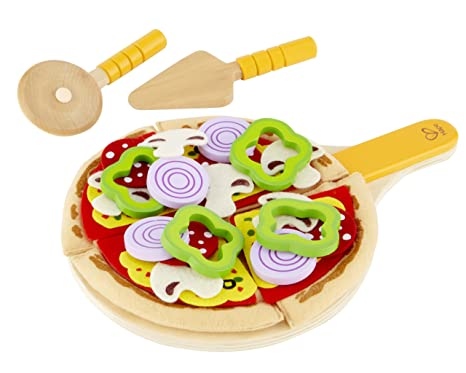 Play Kitchen Food | Amazon Com Hape Homemade Wooden Pizza Play Kitchen Food Set And