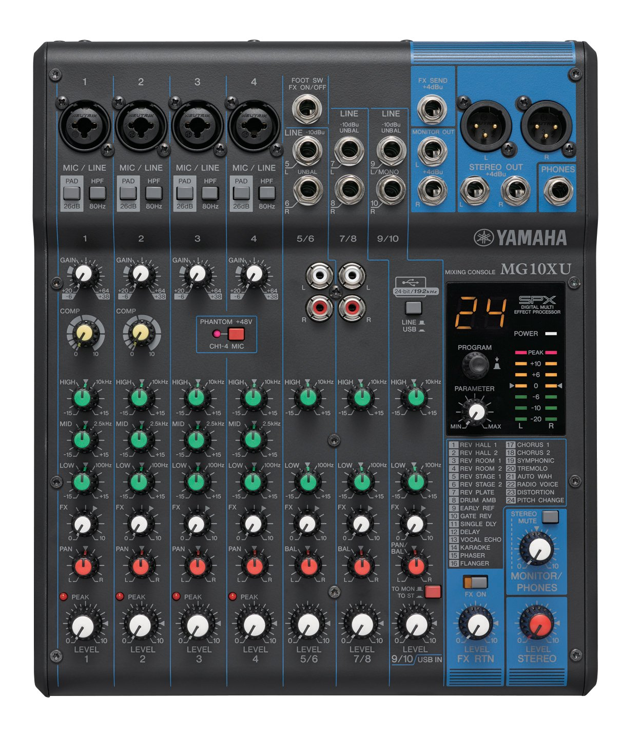 Redshifter's Gadget Reviews: Yamaha MG10XU 10-input Stereo Mixer with Effects