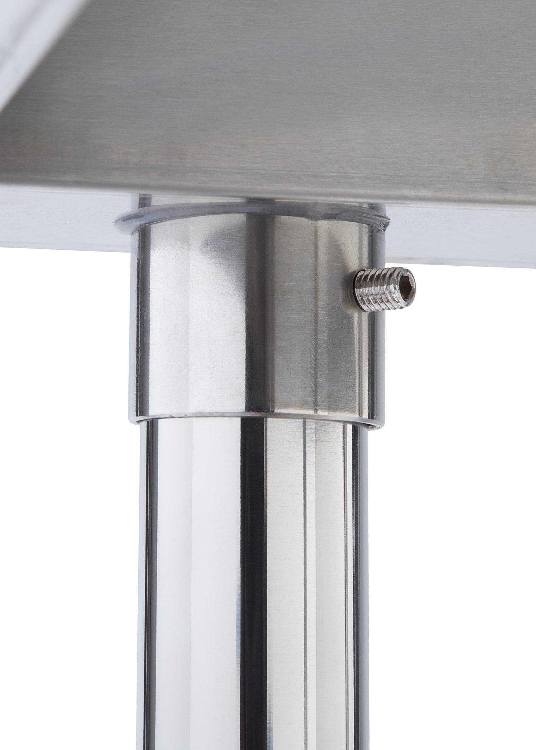 TRINITY EcoStorage NSF Stainless Steel Table, 24-Inch by Trinity (Image #7)