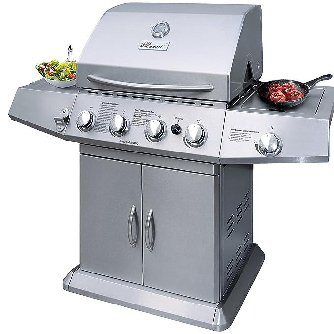 Broil-master - Barbacoa parrilla a gas BBQ con práctica rejilla - calidad certificada por TÜV Rheinland