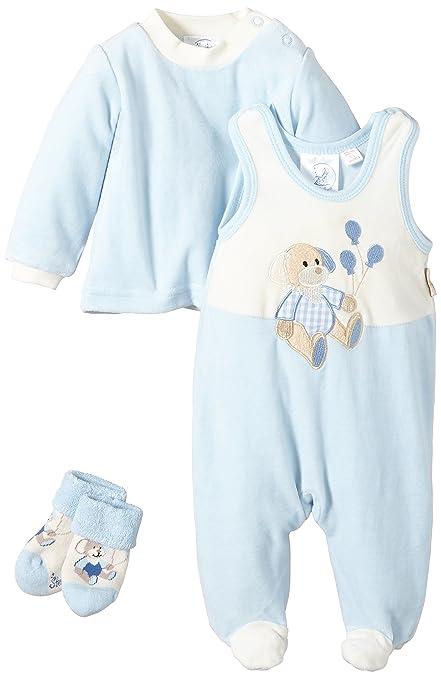 Sterntaler 95376 Henri - Juego de pelele, jersey y calcetines para bebé Talla:50