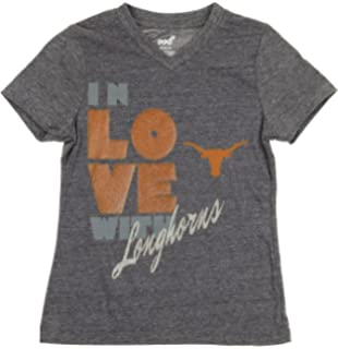 OuterStuff NCAA Texas Longhorns Youth Girls Mother Of Pearl Long Sleeve Tee