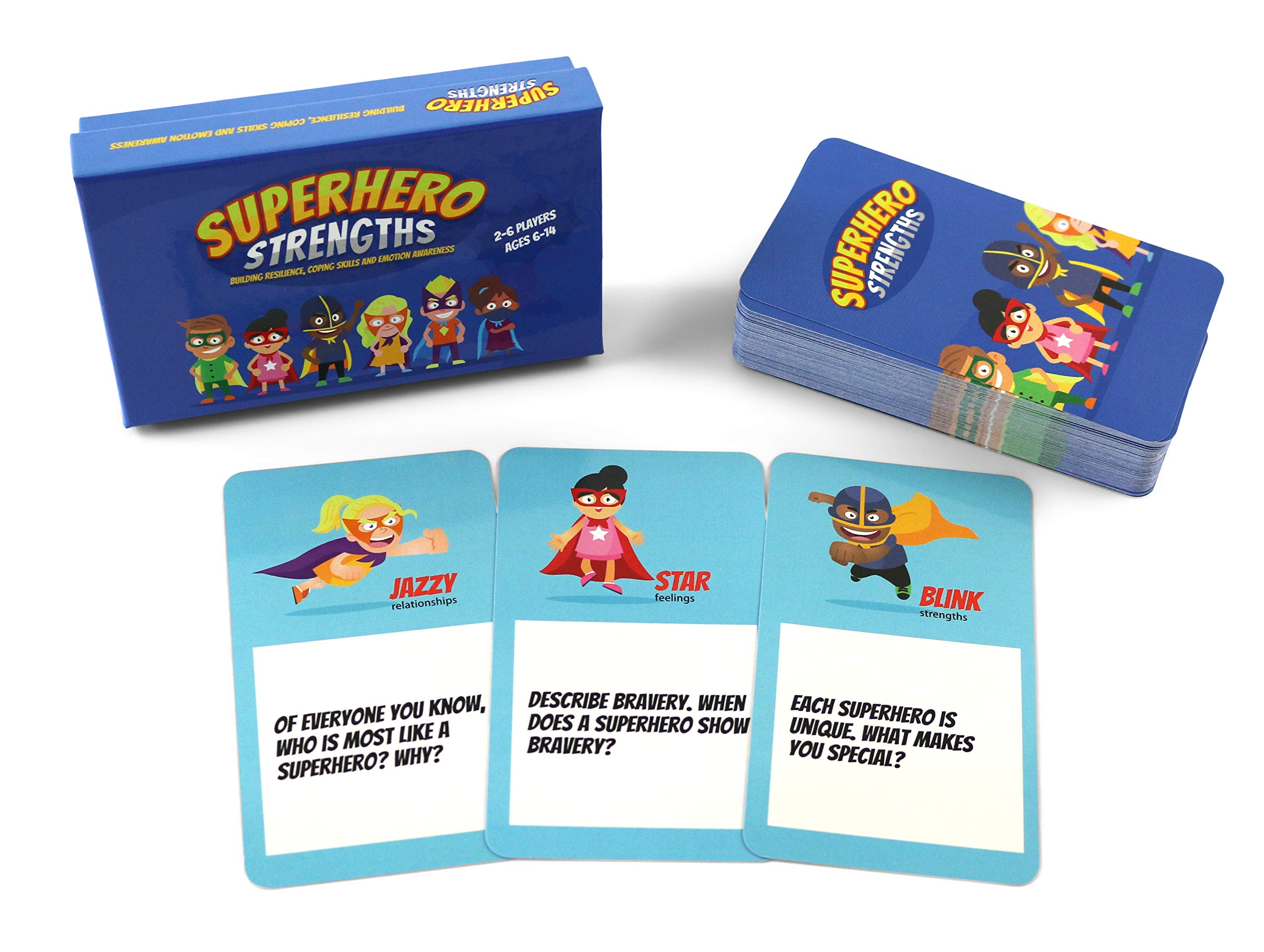 Superhero Strengths: Building Resilience, Coping Skills, and Emotion Awareness Card Game