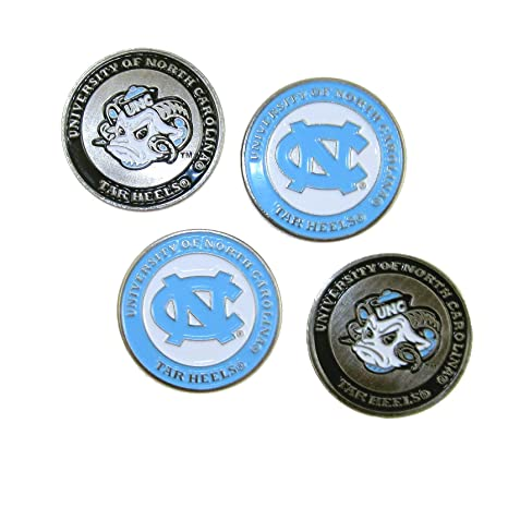 7b852104e95 Image Unavailable. Image not available for. Color  North Carolina Tar Heels  Double Sided UNC Golf Ball Markers ...
