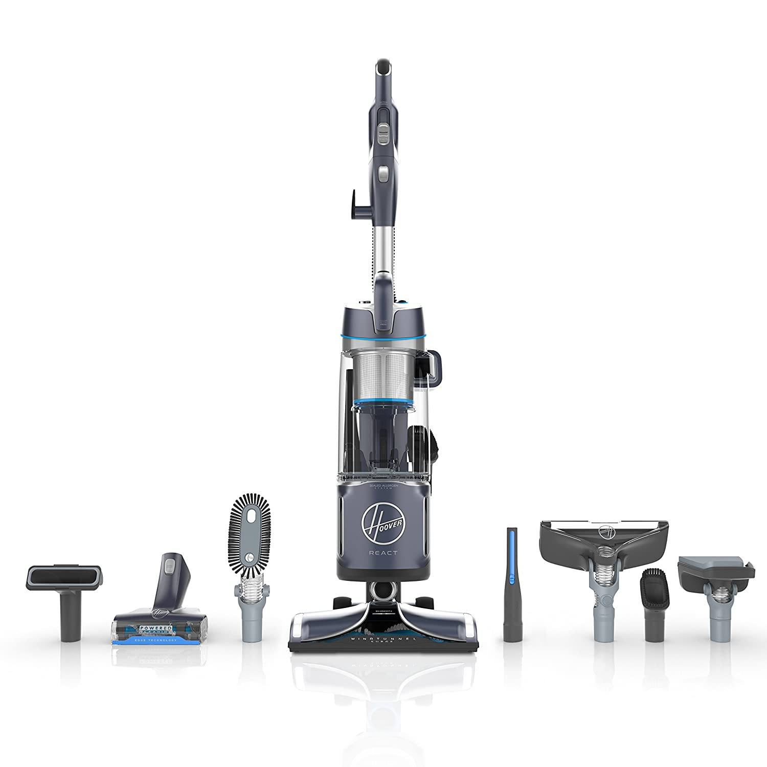 Hoover UH73550PC React Powered Reach Premier Upright Vacuum Blue