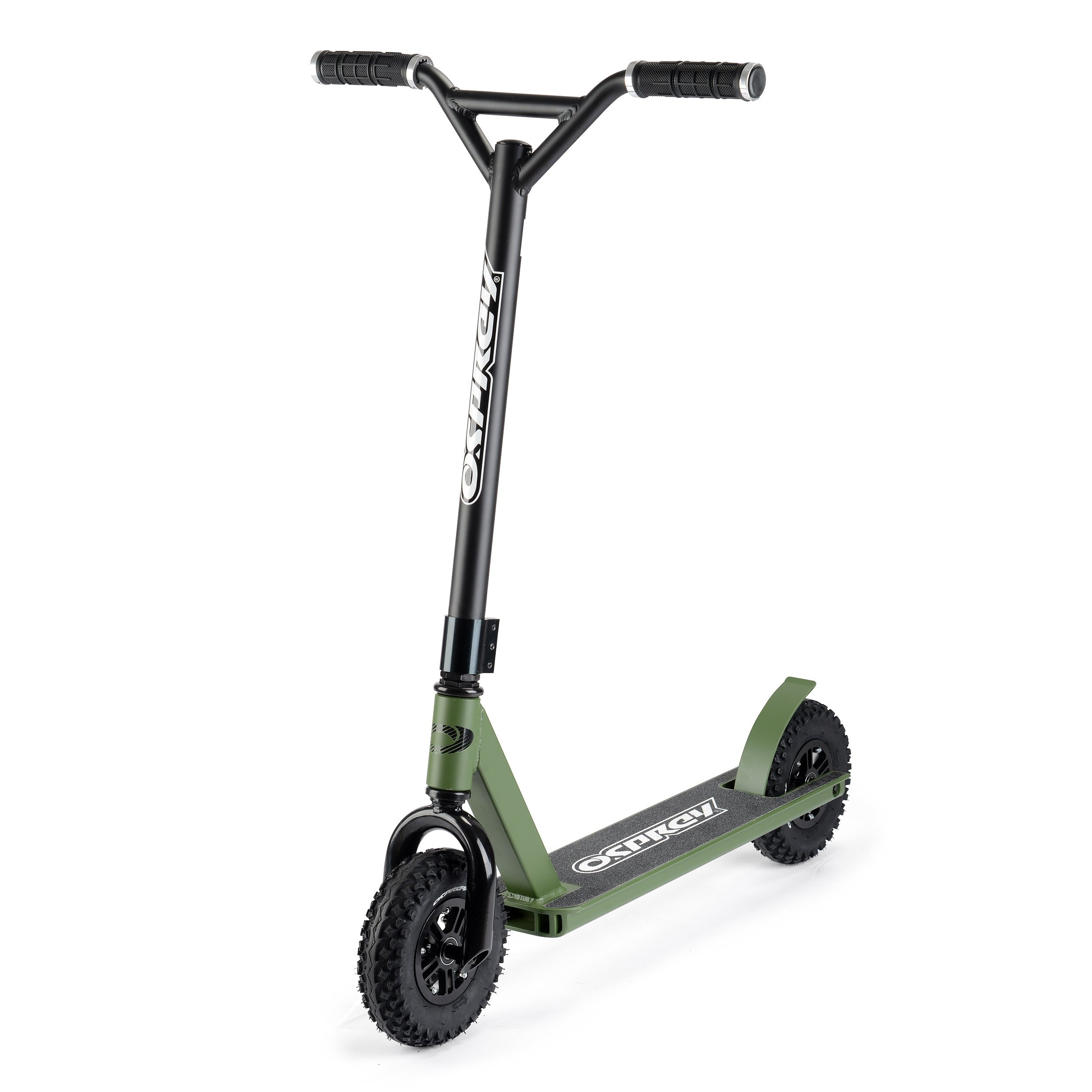 Osprey Dirt Scooter with Off Road All Terrain Pneumatic Trail Tires - NATO Green - Offroad Scooter for Adults or Kids