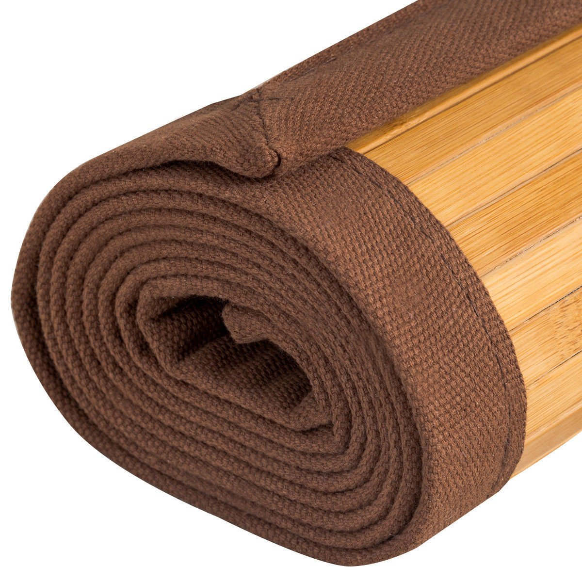 "Giantex 60"" x 96"" Bamboo Area Rug Floor Carpet Natural Bamboo Wood Indoor Outdoor"