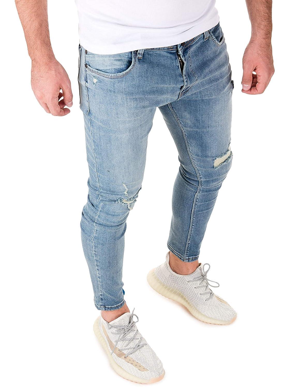 PITTMAN Vaqueros para Hombre Jeans Pantalones Straight Ragner